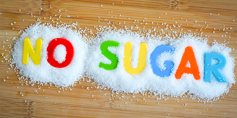 No sugar lettering graphic